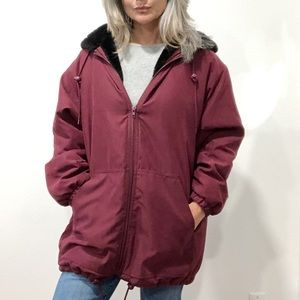 Forecaster of Boston Parka Red Hooded Jacket Small